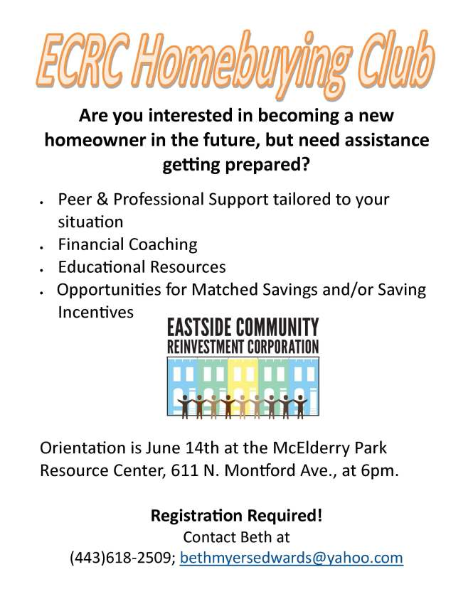 ECRC Homebuying Club Flier